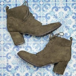 NEW Madden Girl faux suede lace up booties